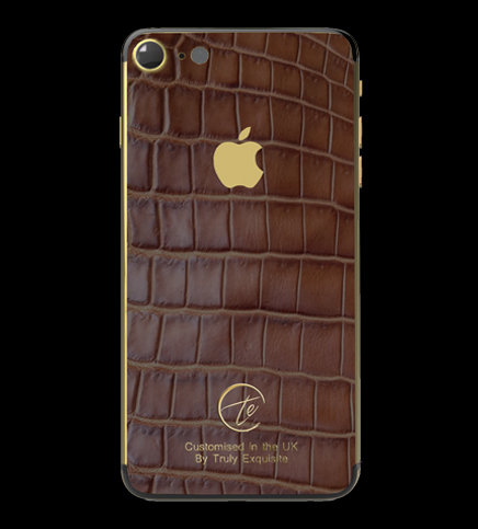 24K Gold Brown Croco Edition iPhone 7