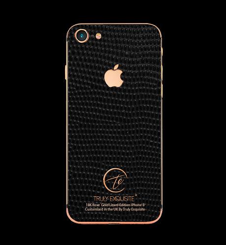 18K Rose Gold Black Lizard Edition iPhone 8