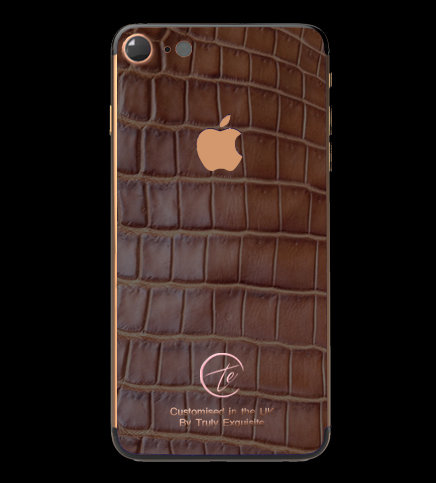 18K Rose Gold Brown Croco Edition iPhone 7