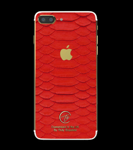 24K Gold Red Python Edition iPhone 7 Plus