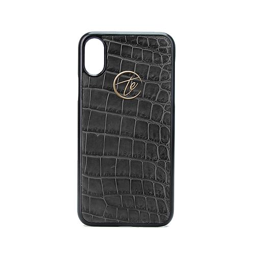 Grey Crocodile Leather iPhone XS / XS Max Phone Case