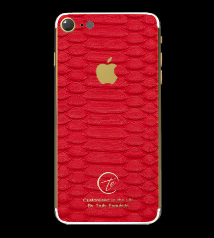 24K Gold Red Python Edition iPhone 7