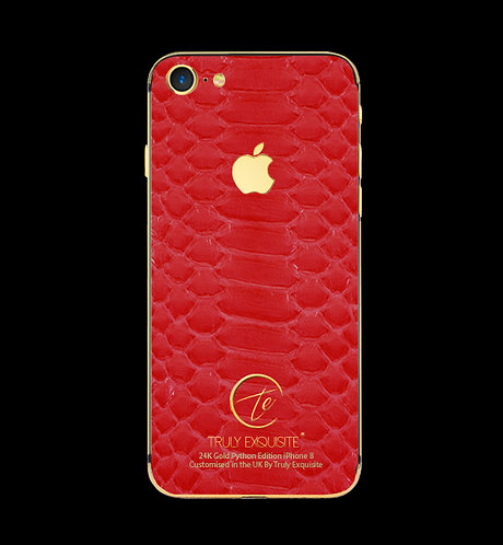 24K Gold Red Python Edition iPhone 8