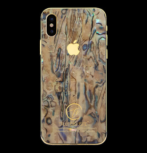 24K Gold Plated Mother of Pearl iPhone X