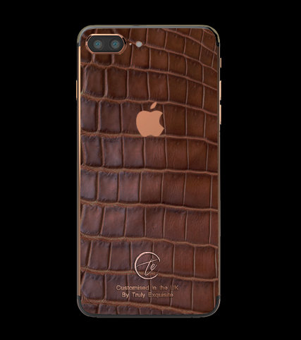 18K Rose Gold Brown Croco Edition iPhone 7 Plus