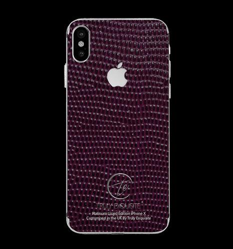 Platinum Purple Lizard Edition iPhone X