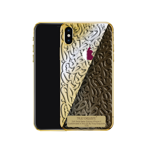 Luxury Limited Edition Qatar Calligraffiti iPhone X