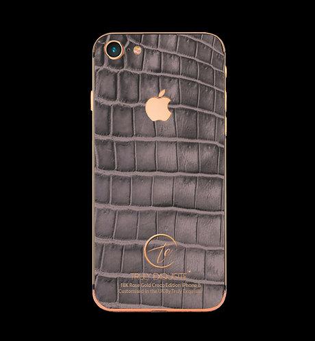18K Rose Gold Grey Croco Edition iPhone 8