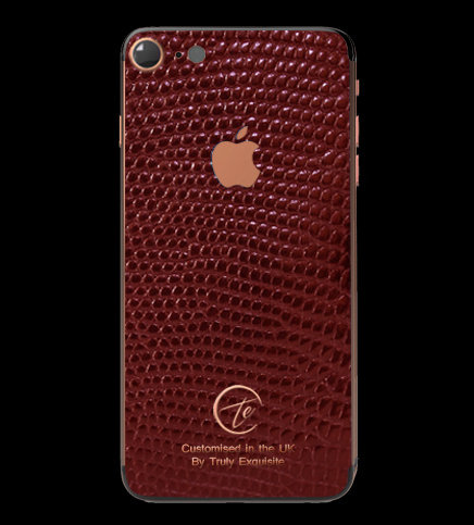 18K Rose Gold Red Lizard Edition iPhone 7