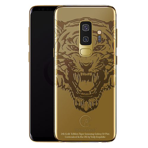 24K Gold Tiger Limited Edition Samsung S9 Plus