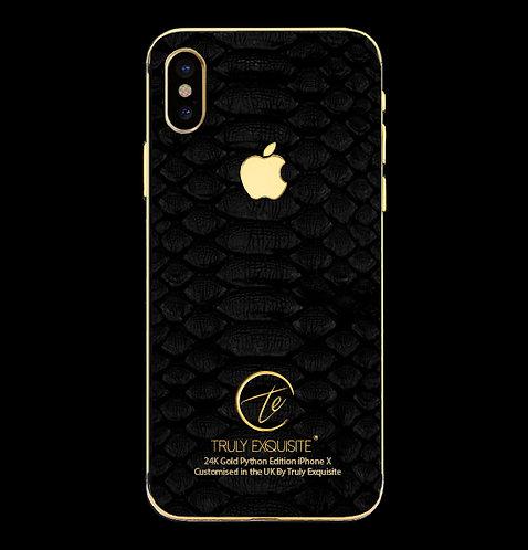 24K Gold Black Python Edition iPhone X