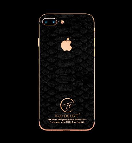 18K Rose Gold Black Python Edition iPhone 8 Plus