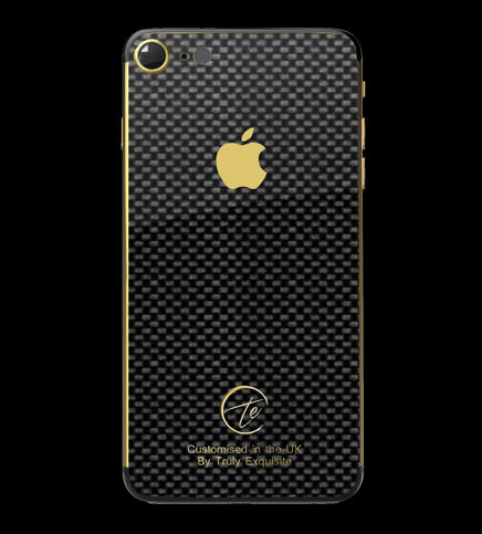 Carbon Fibre & 24K Gold Plated iPhone 7