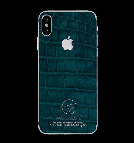Platinum Turquoise Croco Edition iPhone X