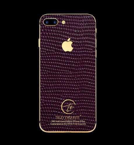 24K Gold Purple Lizard Edition iPhone 8 Plus