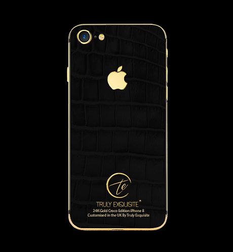 24K Gold Black Croco Edition iPhone 8