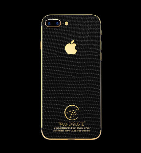 24K Gold Black Lizard Edition iPhone 8 Plus