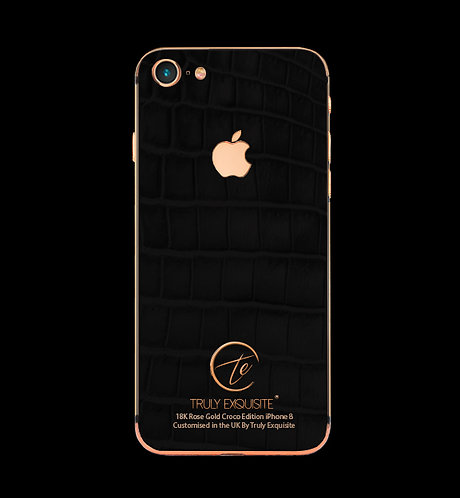 18K Rose Gold Black Croco Edition iPhone 8