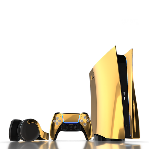 Luxury Customised Limited Edition 24K Gold PS5