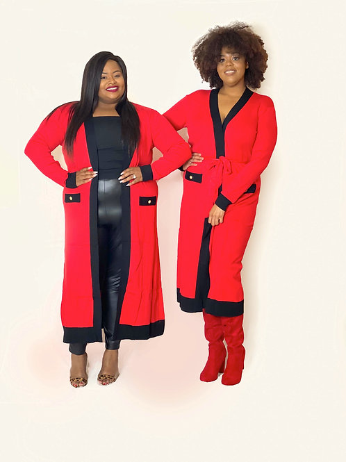 Red Sweater Duster