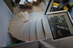 arrivé escalier circulaire
