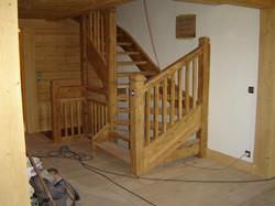 Escalier vieux bois