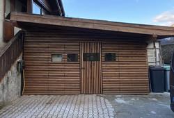 Renovation de la facade d'un garage clai