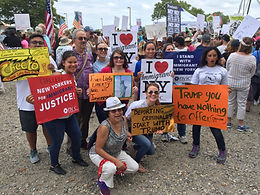 CARECEN Staff demonstrating against Trump's Anti-Immigrant Policies