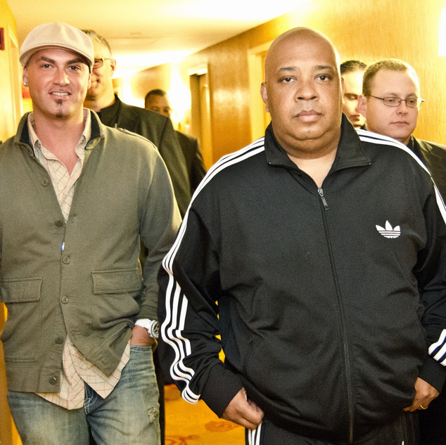 Davey and the legendary Rev Run from Run D.M.C.