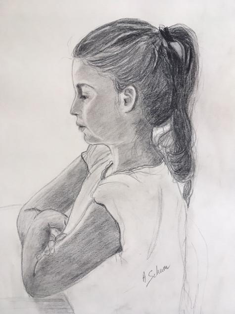 Sarah de profil