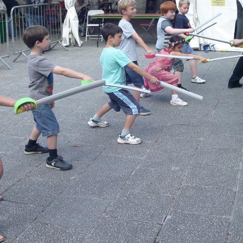 Children Swashbuckling