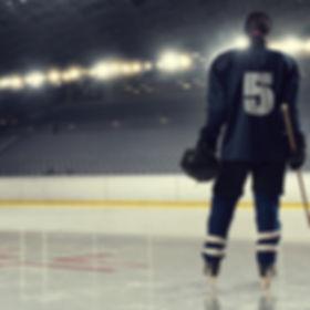 Woman play hockey   . Mixed media.jpg