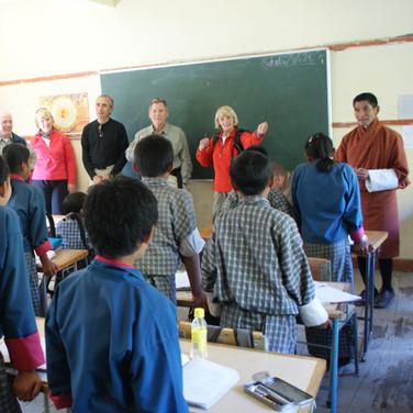 Visiting a school in western Bhutan