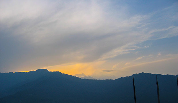 A Golden October light over the Paro Valley, Bhutan