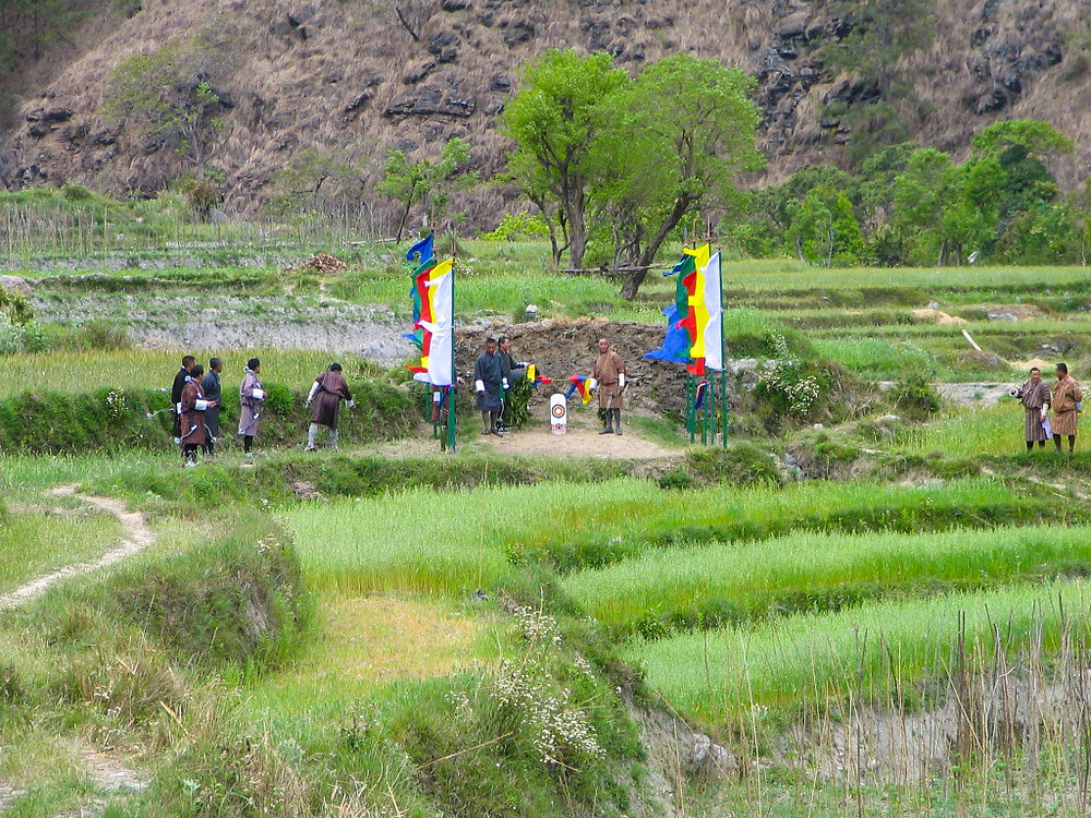 In Bhutan, where archery is like baseball, even rice paddies can quickly be used as the field for an impromptu game when the Himalayan new year comes around.