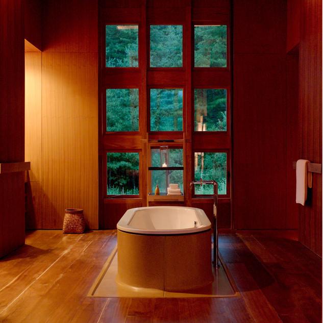 Room and Bath at Amankora Paro