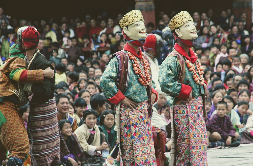 The Dance of the Noblemen and Ladies, mask Dances of Bhutan