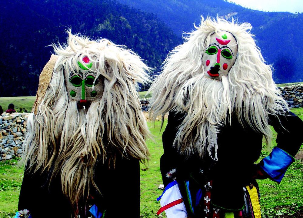 The Ache Lhamo is an ancient traditional mask dance from the far eastern horizons of Bhutan, including the valleys of Merak and Sakten.