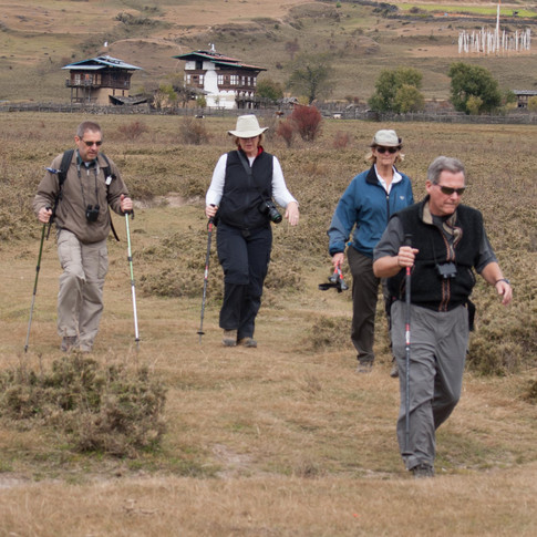 Hiking in central Bhutan