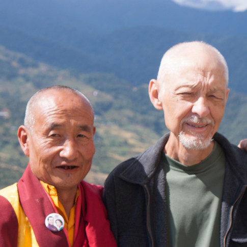 Lama and guest Charles F.