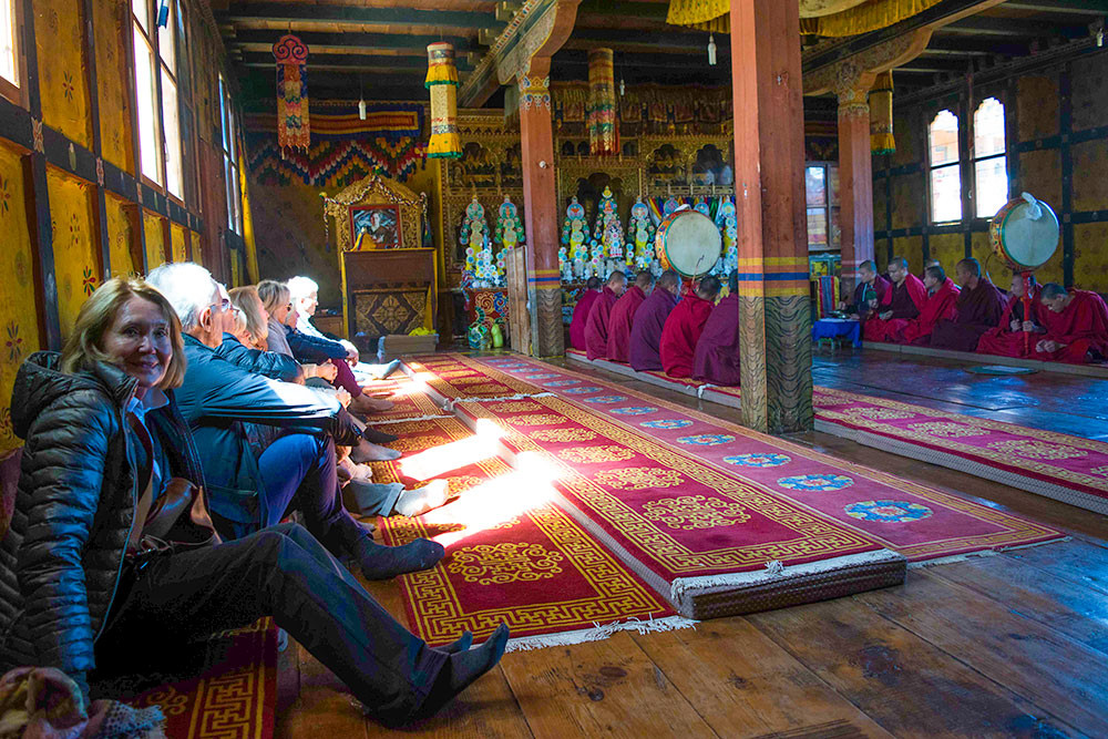Guests attend a private Buddhist ceremony