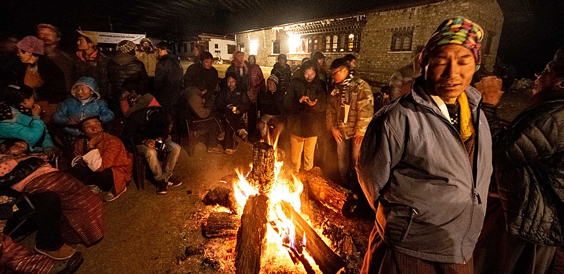 festivities-and-communal-fire-jomolhari.