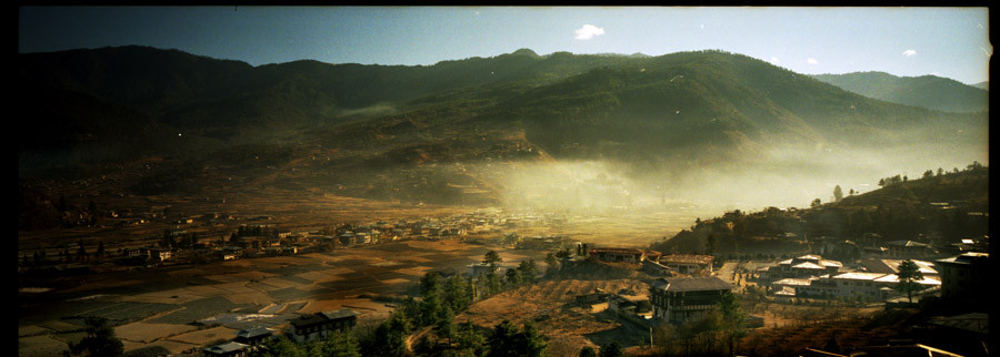 A Golden October light over the Paro Valley, Bhutan
