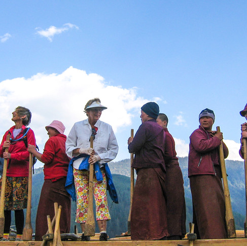 Bhutan's architecture is sustainable