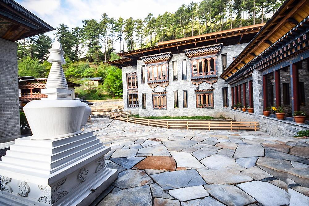 Courtyard of Bhutan Mountain Resort, copyrighted by bhutanhimalaya.com