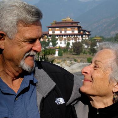 Raymond N. and Peggy B. at  Punakha