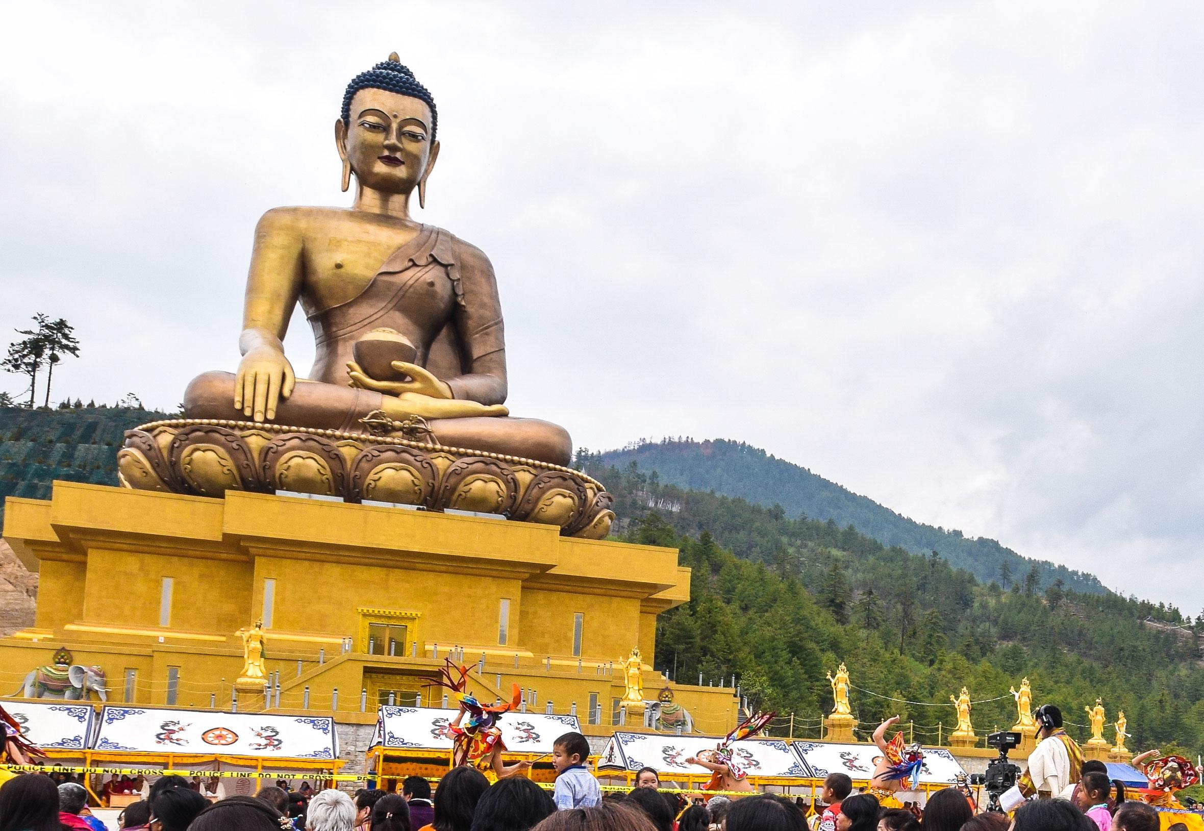 The Giant Copper Buddha at Thimphu, Bhutan's Capital. Copyrighted. Source: bhutanhimalaya.com