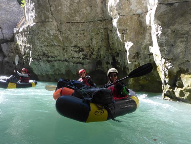 """Canyon du Verdon, juste avant le passage du """"Rideau"""""""