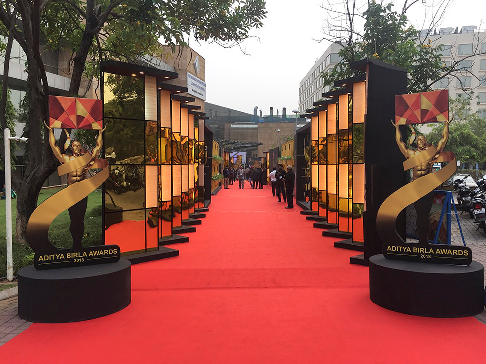 oscar type of entrance and awards for Aditya Birla in india Hyderabad with Amadeus Electric Quartet