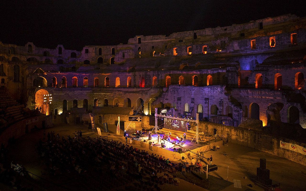 Amadeus Quartet performing on the stage of Eljem festival